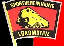 Das Emblem der BSG Lokomotive Gerstungen