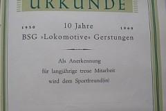 Urkunde von 1960