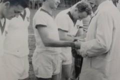Verabschiedung des Sportfreundes Uhlmann aus der Mannschaft 1966