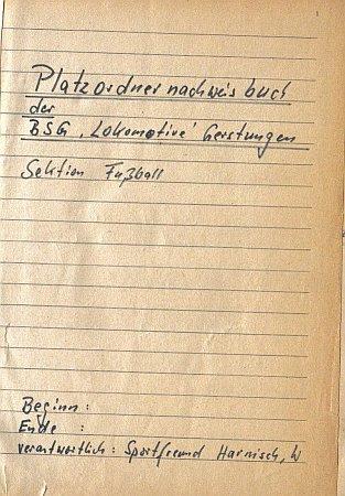 Spiele 1982, Deckblatt Platzordnernachweisbuch