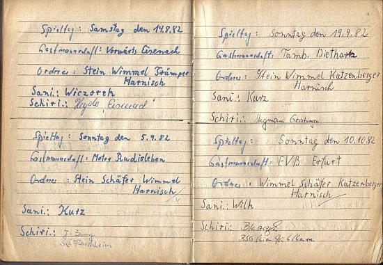 Spiele im Sommer 1982, Platzordnernachweisbuch