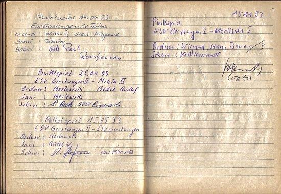 1993 im Platzordnernachweisbuch
