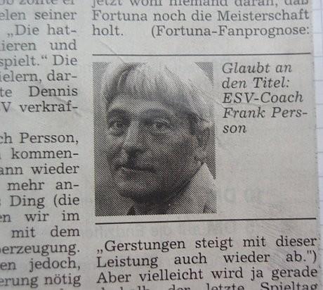 Neuer Trainer: Frank Persson
