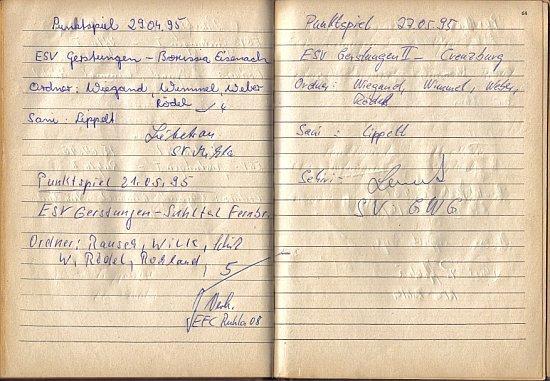 Platzordnernachweisbuch 1995