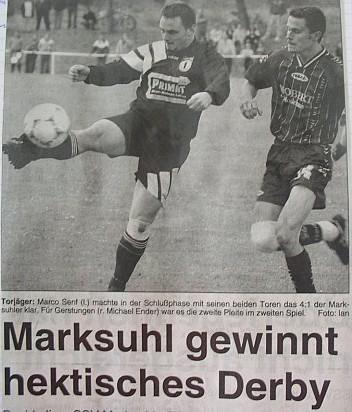 Niederlage im Derby gegen Marksuhl