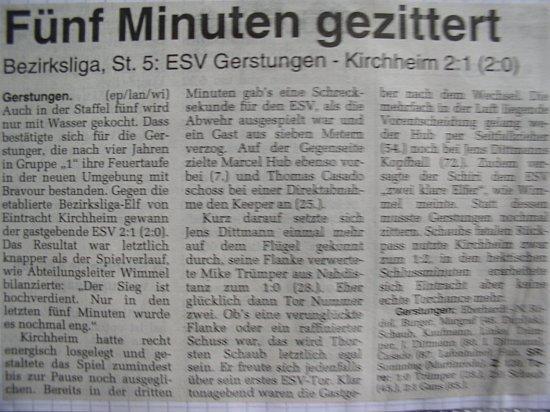 Knapper Sieg gegen Kirchheim