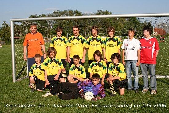 Hallenkreismeister, Pokalsieger und Kreismeister: C-Junioren 2005/2006